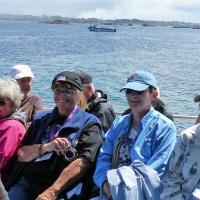 Darlene, Linda, Mary & Betty on the boat to Ile Vierge