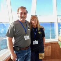 Doug and Leigh in the Diamond Head Lighthouse