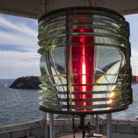 East Quoddy lens and view from the lantern room