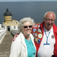 Elinor & Ian at St. Abbs Head.