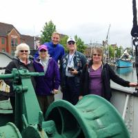 Elinor, Leann, David, Bob & Joan on the Spurn Lightship