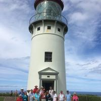 First Group to climb Kilauea Lighthouse