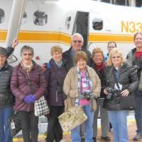 Flying to Cape Spenser