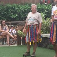 Frank getting ready to do the Tahitian Dance
