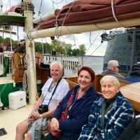 Glen, Joan and Jill on Spirit of Buffalo