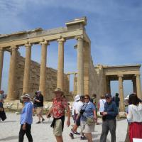Group at the Parthenon ruins