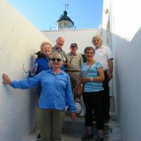 Evelyn, Claire, Chris, Dick, Janet and Guide