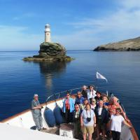Group in front of the Tourlitis Lighthouse