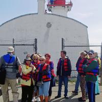 Group at Inner Colbourne Light