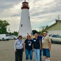Group at Pelee Passage Lighthouse