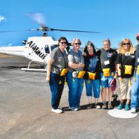 Group on one of the Helicopter rides to Molokai