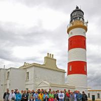 Group photo at the Point of Ayre Lighthouse courtesy of Phil Borkowski.