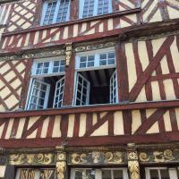 Interesting historic half timer houses in Rennes.