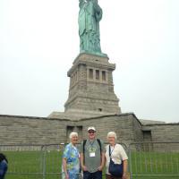 Rich, Glenda and Jan at the Statue of Liberty