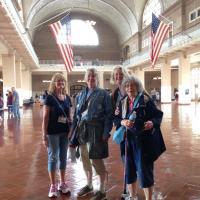 Linda, Leah, Sandy and Dona at Ellis Island