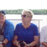 Our next cruise to Esopus Meadows and Rondout Creek - Bruce, Mary, Glenda, Linda, Thomas & Dona, getting to know Society members joining us for the day