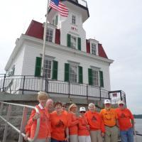 Our welcome at Esopus Meadows Lighthouse