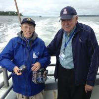 Lawrence and Virginia enjoying a wonderful cruise
