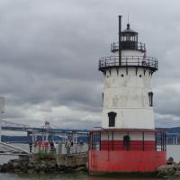 Closer view of Tarrytown Lighthouse