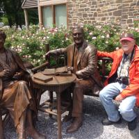 Steve taking a moment with FDR and Elinor