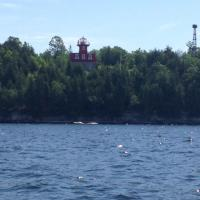 View from the water of the Bluff Point Lighthouse