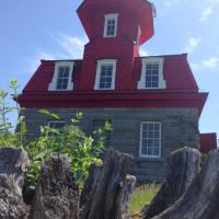 Artistic photo of the Bluff Point Lighthouse
