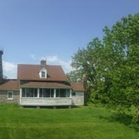Beautiful shot of the Windmill Point Lighthouse and the property