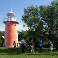 Again Rob was nice enough to give us a tour of the lighthouse and property and let us climb it