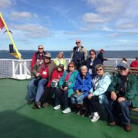 Group on ferry heading over to Grand Manan Island at the start of the tour.
