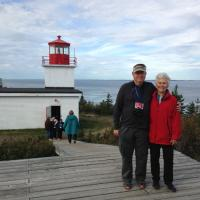 Bob & Sandy at Long Eddy Point Lighthouse.