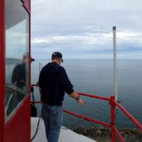 John and Henry at the top of the Swallow Tail Lighthouse