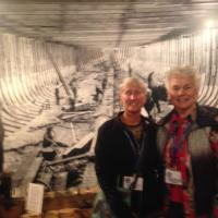 Jill & Sandy enjoying the Quaco Museum