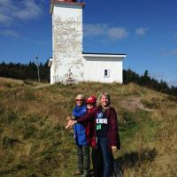 Jill, Kathryn and Chris – the bracelet sisters at Quaco Head Lighthouse