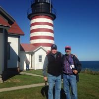 Tim Harrison and Henry (VP Board of Directors, U.S. Lighthouse Society) at the West Quoddy Head Light Station.