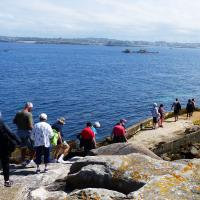 The small landing area at Ile Vierge and the rapidly changing tides explains why they gave us only 45 minutes for the group to climb the tallest traditional lighthouse in the world/