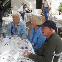 Jan, Evelyn & Dick wine tasting