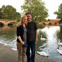 Jeff & Melissa pose on the Avon.