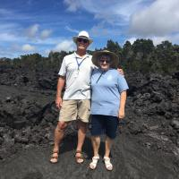 Jerry and Marjie on Volcanic Rock