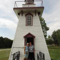 Jill and Joan at Kingsville Lighthouse
