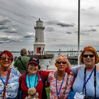 Joan, Kathryn, Jill and Nancy at Grosse Ile Lighthouse