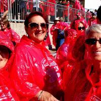 Kathryn, Joan and Jill ready for the Niagara Falls boat ride