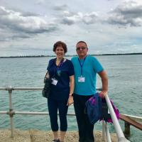 Kelly and Mike at Grosse Ile Lighthouse
