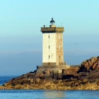 Kermorvan lighthouse, just one of 13 lighthouses viewed on Day 11.