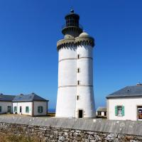 Very interesting style of lighthouse at Le Stiff, side by side towers.