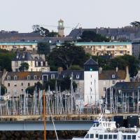 Leaving St Malo provided a great view of its range lights - La Balue Rear and Les Bas-Sablons front