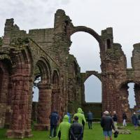 Is was a rainy day when we visited the Holy Island of Lindisfarne.