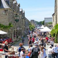 Street vendors dominated our visit to the medieval town of Locronan.