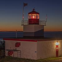 Long Eddy Point Lighthouse at Sunset