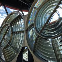 Interesting Fresnel lens at Longstone Lighthouse.