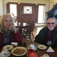 Martha and Bill having Tea with Eleanor